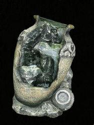 Фонтан с помпой Каменный кувшин, с подсветкой
