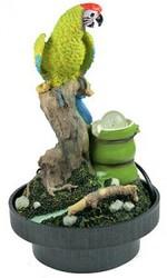 Фонтан декоративный настольный Зеленый Попугай