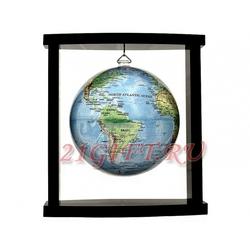 Cамовращающийся глобус МОБИЛЕ на подвесе с общегеографической картой мира. MP-45-RBE-P