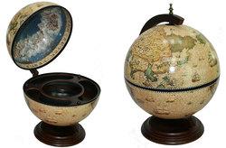 Глобус бар Сокровища древнего мира настольный d=42см, 41*41*56см