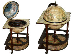 Глобус бар Сокровища древнего мира напольный d=42см, 54*54*93см
