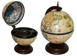 Глобус бар Сокровища древнего мира настольный d=33см, 38*33*48см