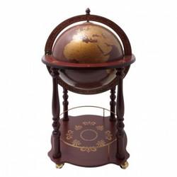 Глобус-бар Крузенштерн с современной картой, покрытие сферы - кожа д. 40см