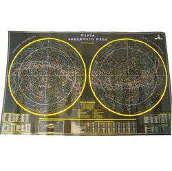 Ламинированная карта Звездное небо (1л.)